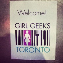 Girl Geeks Door Sign